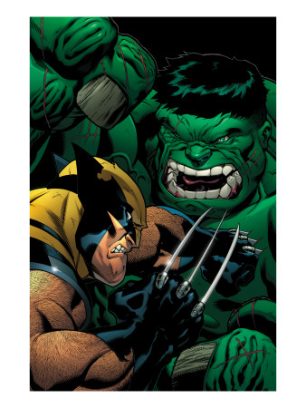 World War Hulk: X-Men #2 Cover: Wolverine and Hulk Art Print