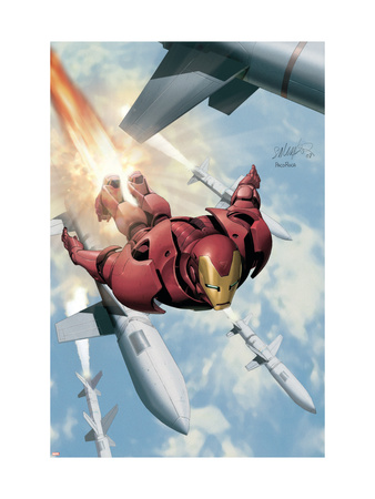 Invincible Iron Man #3 Cover: Iron Man Art Print
