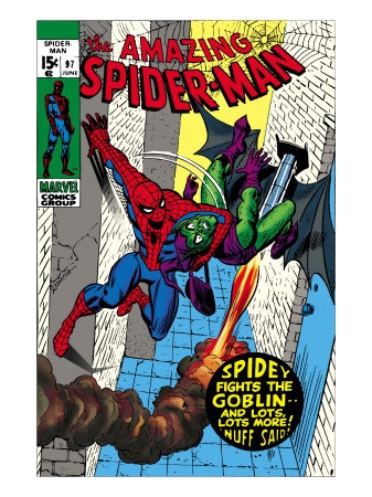 The Amazing Spider-Man No.97 Cover: Spider-Man and Green Goblin Kunstdruck