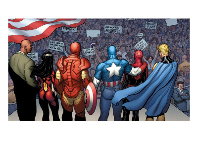 The New Avengers No.15 Group: Cage Art by Frank Cho