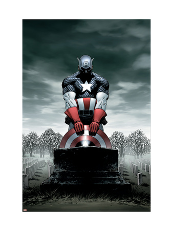 Captain America #4 Cover: Captain America Art Print