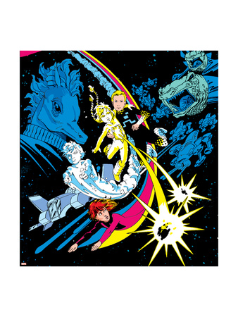 The Official Handbook Of The Marvel Universe Teams 2005 Group: Zero-G Art Print
