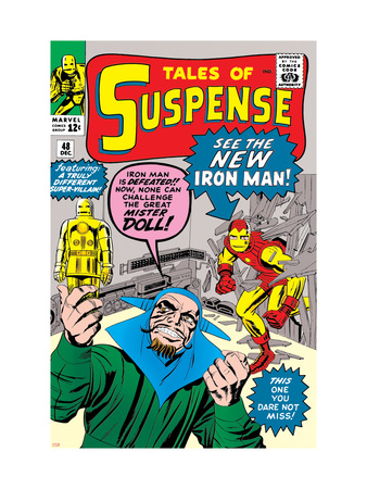 Tales of Suspense No.48 Cover: Iron Man and Mister Doll Reproduction d'art