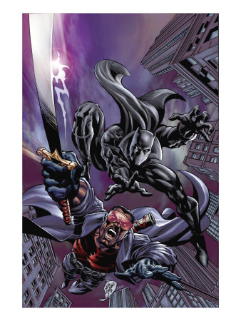 Black Panther #12 Cover: Black Panther and Blade Reproduction d'art