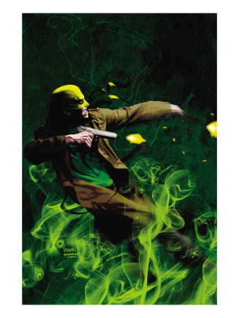 The Immortal Iron Fist: Orson Randall And The Green Mist Of Death #1 Cover: Iron Fist Art Print