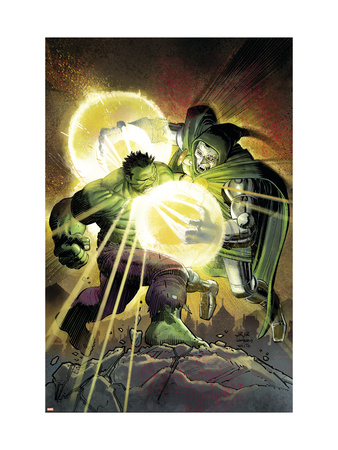 Incredible Hulk #606 Cover: Hulk and Dr. Doom Art Print