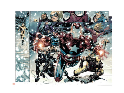 Free Comic Book Day 2009 Avengers #1 Group: Iron Patriot Art Print