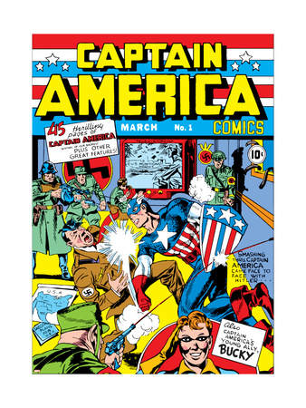 Captain America Comics #1 Cover: Captain America, Hitler and Adolf Art Print