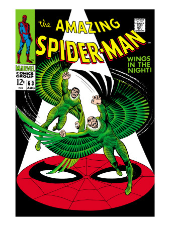 The Amazing Spider-Man No.63 Cover: Vulture Flying Kunsttrykk
