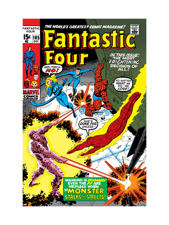 Fantastic Four #105 Cover: Mr. Fantastic Kunsttrykk