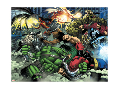 World War Hulk #2 Group: Hulk Art Print