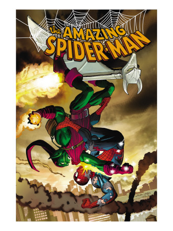 The Amazing Spider-Man #571 Cover: Spider-Man and Green Goblin Art Print