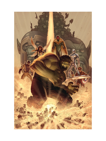 What if? Wolrd War Hulk #1 Cover: Hulk, Giant Man, Wasp, Vision and Silver Surfer Art Print