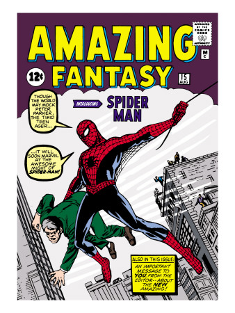 Retro Amazing Fantasy Comic Book cover art issue No. 15