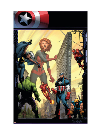 Marvel Adventures The Avengers No.29 Cover: Captain Marvel Art Print