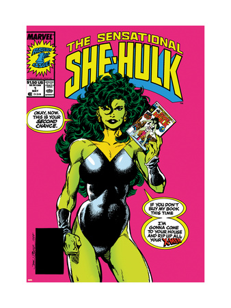 The Sensational She-Hulk No.1 Cover: She-Hulk Reproduction d'art