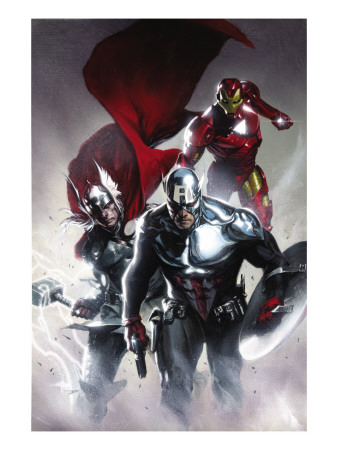 Secret Invasion #6 Cover: Captain America, Thor and Iron Man Impressão artística