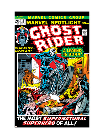 Marvel Spotlight No.5 Cover: Ghost Rider Reproduction d'art
