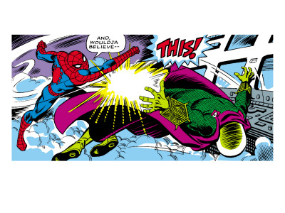 Marvel Comics Retro: The Amazing Spider-Man Comic Panel Posters