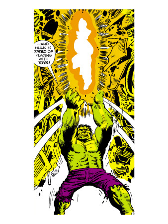 Marvel Comics Retro: The Incredible Hulk Comic Panel Art