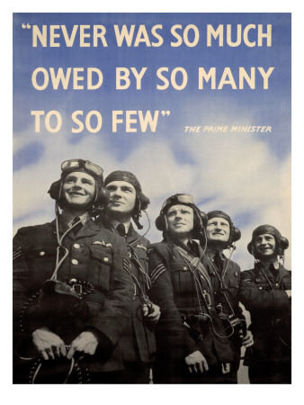 WWII British RAF Recruiting Poster Art Print