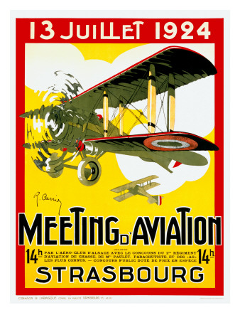 Strasborg Aviation Exposition Poster Art Print
