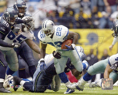 Emmitt Smith All-Time Rushing Yard Leader - #1 Action Fotografía