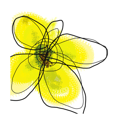 Yellow Petals 1 Poster by Jan Weiss