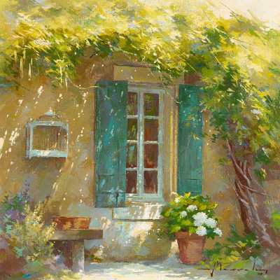 Sous la Tonnelle Prints by Johan Messely