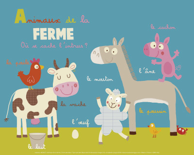 Animaux de la ferme Reproduction d'art