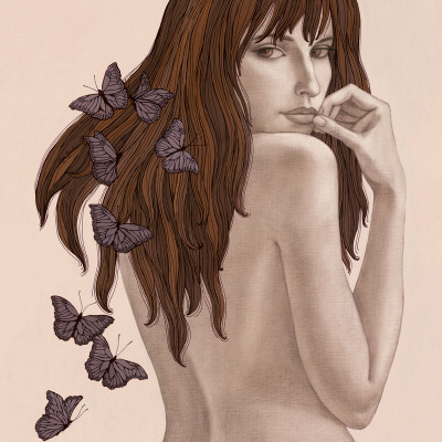 Papillons Prints by Olga Gouskova