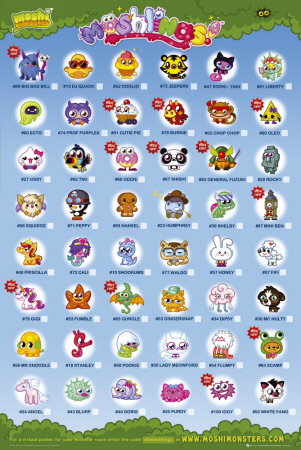 moshi monsters moshling tick
