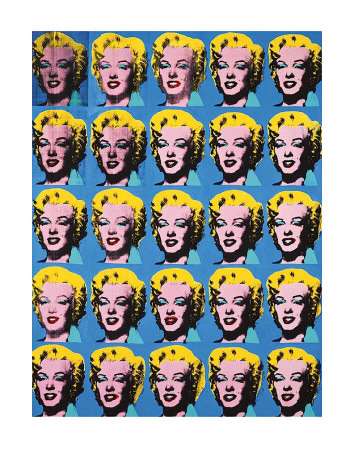 Twenty-Five Colored Marilyns, 1962 Art Print