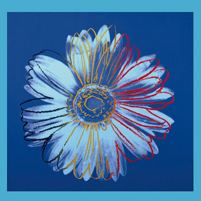 Daisy, c.1982 (Blue on Blue) Posters by Andy Warhol