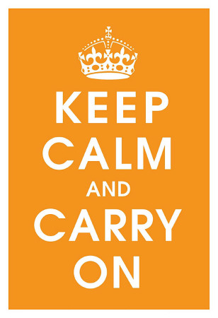 Keep Calm (orange) Art Print