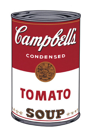 Campbell's suppe I:  Tomat, ca. 1968, Campbell's Soup I: Tomato, c.1968 Kunsttryk