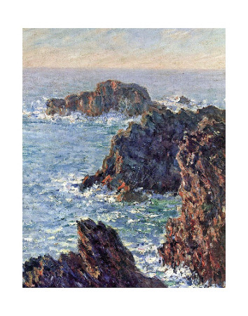 Rock Points at Belle-Ile, c.1886 Reproduction d'art