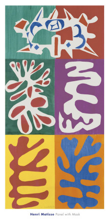 Panel with Mask, c.1947 Prints by Henri Matisse