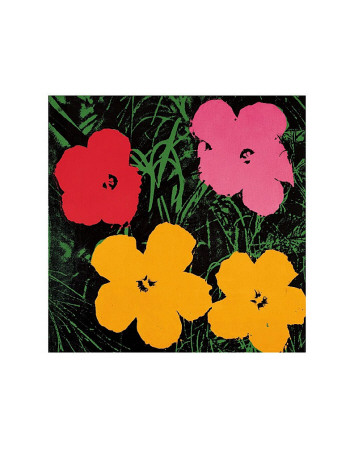 Flowers, 1964 (Red, Pink and Yellow) Art Print