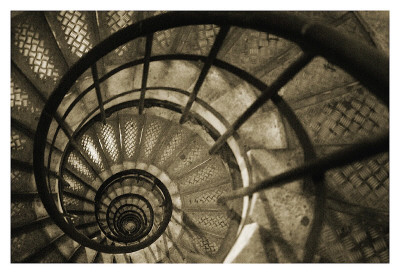 Spiral Staircase in Arc de Triomphe Reproduction d'art