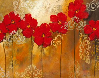 Red Symphony II Poster by Lilian Scott