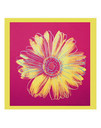 Daisy, c.1982 (Fuschia and Yellow) Print by Andy Warhol