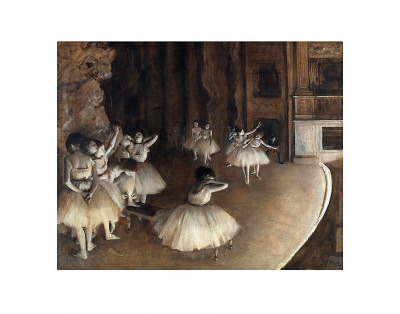 Dance Rehearsal, c.1874 Art Print