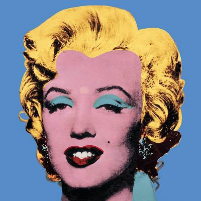 Marilyn Monroe su sfondo azzurro, 1964 Poster di Andy Warhol
