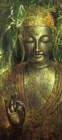 Buddha in Green l Kunstdruck