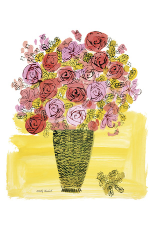(Stamped) Basket of Flowers, 1958 Stampa di Andy Warhol