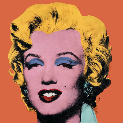 Shot Orange Marilyn, 1964 Kunsttryk