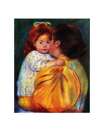 Maternal Kiss, c,1896 Posters by Mary Cassatt