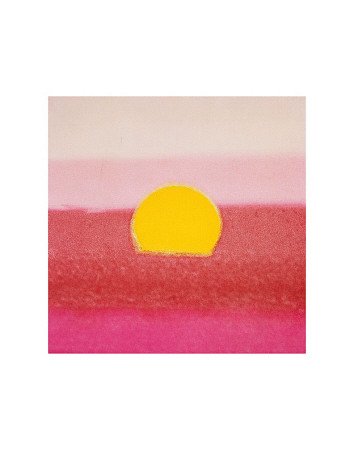 Sunset, c.1972 40/40 (pink) Poster by Andy Warhol