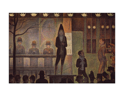 Circus Sideshow Art by Georges Seurat
